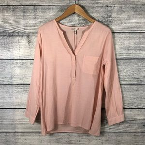 Joie Solid Light Pink One Pocket Top Size Small